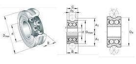 Łożysko LFR 50/8 6 zz INA 8x24x11