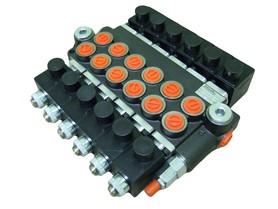 Rozdzielacz 6 sekcyjny 40 L/min sterowany elektrycznie