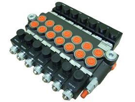 Rozdzielacz 7 sekcyjny 40 L/min sterowany elektrycznie