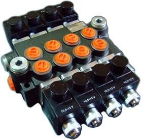Rozdzielacz 4 sekcyjny 40 L/min. sterowany elektrycznie