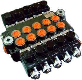 Rozdzielacz 5 sekcyjny 40 L/min. sterowany elektrycznie