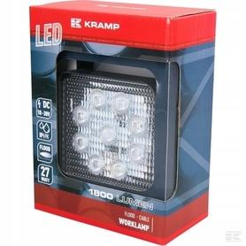 LAMPA HALOGEN ROBOCZY LED 27W 1800lm KRAMP CARBON