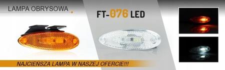 LAMPA OBRYSOWA DIODOWA LED 12/24V BIAŁA (4)