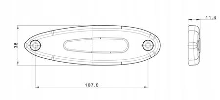LAMPA OBRYSOWA DIODOWA LED 12/24V POMARAŃCZOWA (2)