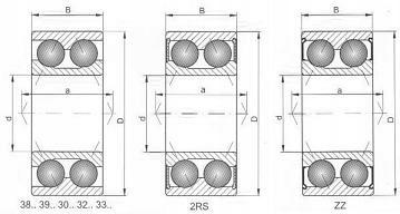 Łożysko DAC30520022 XLZ 30x52x22 =30BD5222T1X (2)