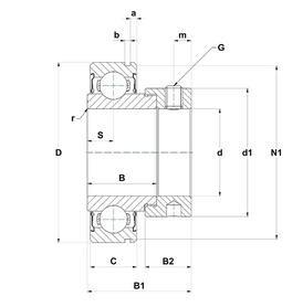 Łożysko 208-108 d1nrw3 jels NTN 38,1x80x43,7